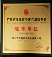 我司当选为广东省日化商会理事单位